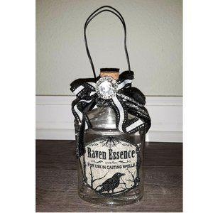 Halloween Apothecary Potion Glass Bottle Decor